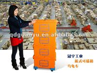 Plastic storage crates, custom color PK6040