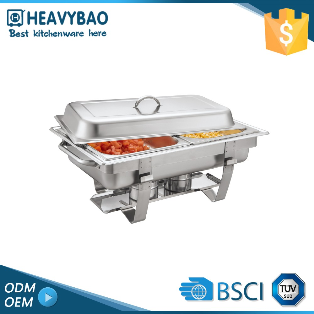 Heavybao Stainless Steel hotel catering luxury chafing dishes big size chafer