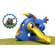 outdoor playground equipment children big slide daycare toys for wholesale
