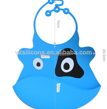 Waterproof BPA free Silicone Baby Bid with Catcher