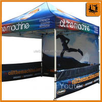 3x3 m alumium canopy tent (two half walls + one full back wall)