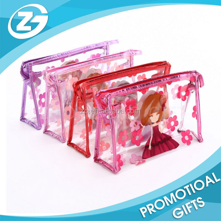 Promotional clear pvc cosmetic gift bag