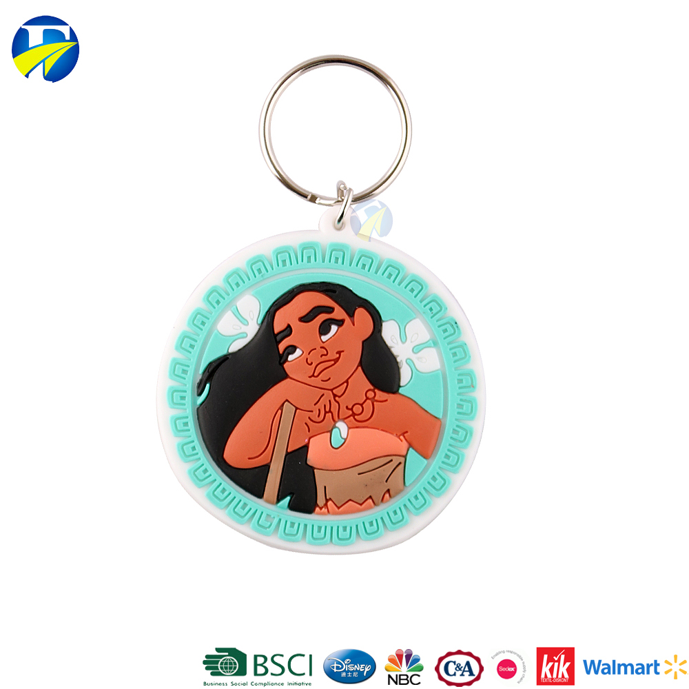 F J Brand wholesale high quality rubber soft rubber custom keychain