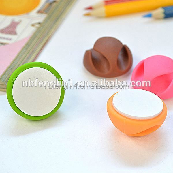 Wholesale 2 slots rubber self adhesive cable clips cube phone accessories