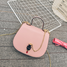 Elegance Ladies bucket handbag women mini tote small Leather body Cross chain body Shoulder bag sling bags for girls