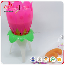 Flame opening flower birthday funny candles