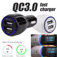 Quick Charge 3.0 Car Charger 9V 2A Dual USB QC3.0 Fast Charging and 3.1A USB Charger Adapter for Samsung Galaxy S8 For Xiaomi