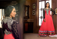 karishma kappoor pakistani Umbrella Frocks Salwar Kameez-Wholesale Pakistani Long Frocks Anarkali Suits-Indian culture clothing