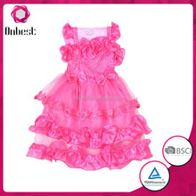Baby girls party dress fashion girl's party evening birthday dress costume baby evening dress