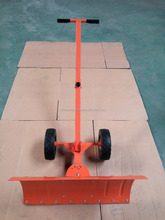 Snow pusher Moving With Wheels,Snow Mover with Adjustable Handle and blade