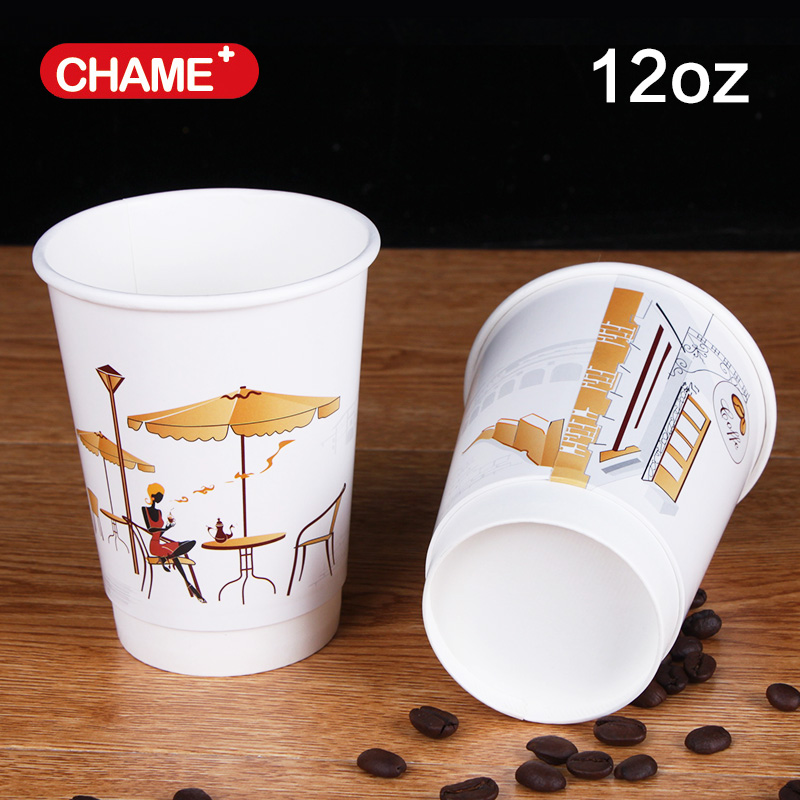 hot drink paper cup manufacture with lid and sleeves, coffee cup with logo