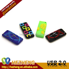 Cheapest PVC USB Flash Drive Beautiful Colorful Rectangle USB Stick Bulk