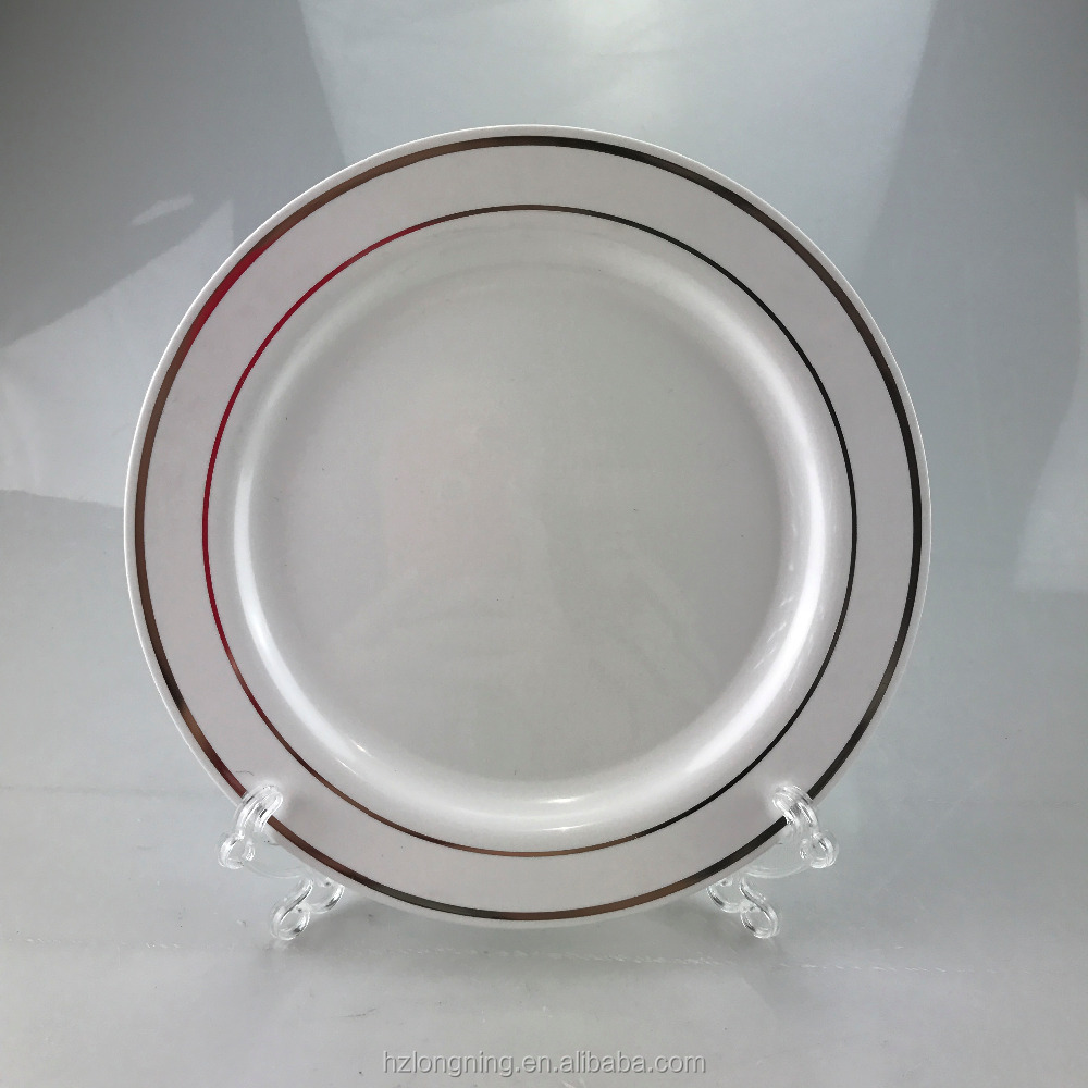 2017 Hot Plastic PS Silver Dinner Plates