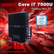 7th Gen Kaby Lake Mini PC Core i7 7500U Max 3.5GHz 16G Ram 256G SSD Intel HD Graphics 620 4K HD Display HTPC VGA HD.MI