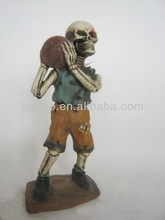 personal resin skull figurine with basketball