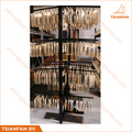 High Capacity Metal Showroom Glass and Stone Mosaic Tile Sample Display Holder for Marketing