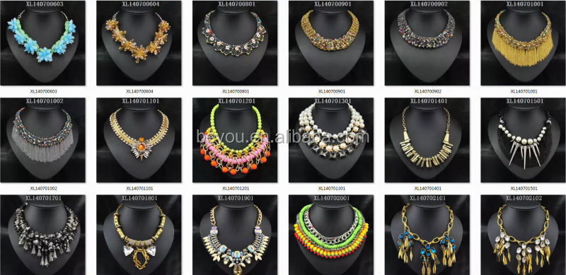 Hot Newest Zinc Spike Products For 2014 Necklace MOQ12pcs
