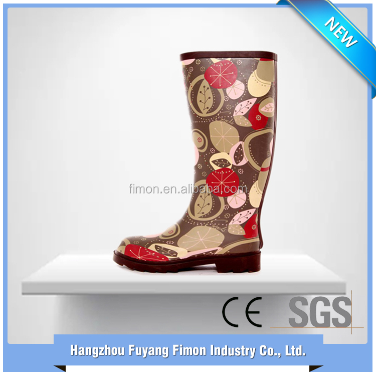 Manufacturer supply fashion custom made rubber wellington boots women