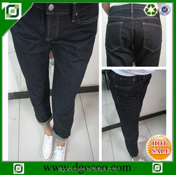 High quality new design girls and women fashion selvage denim jeans lady pants