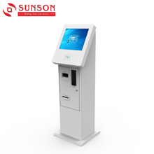 CE,Rohs Certificated Campus Mifare Card Top Up Kiosk With Cash Validator