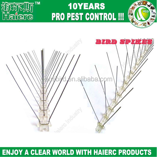 Haierc high quality 50cm 304 stainless steel anti pigeon spike/plastic bird spike made in china