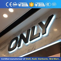 Fabric Led Light 3D Mini Led Channel Letters Front Lit Acrylic Sign