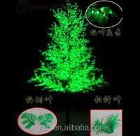Outdoor decorative LED maple tree light, green LED tree light for sale