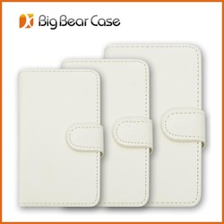 Wallet card-slot pu leather cell mobile phone case