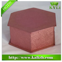 Custom rigid box with fancy paper best quality hand craft
