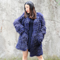 CX-G-A-180B Womens Fur Coats Ladies Winter Long Raccoon Fur Coat