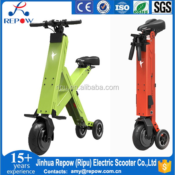 folding electric scooter Xbird Cross-30/50 CE 300W Three Wheel electric scooter foldable mini electric bike