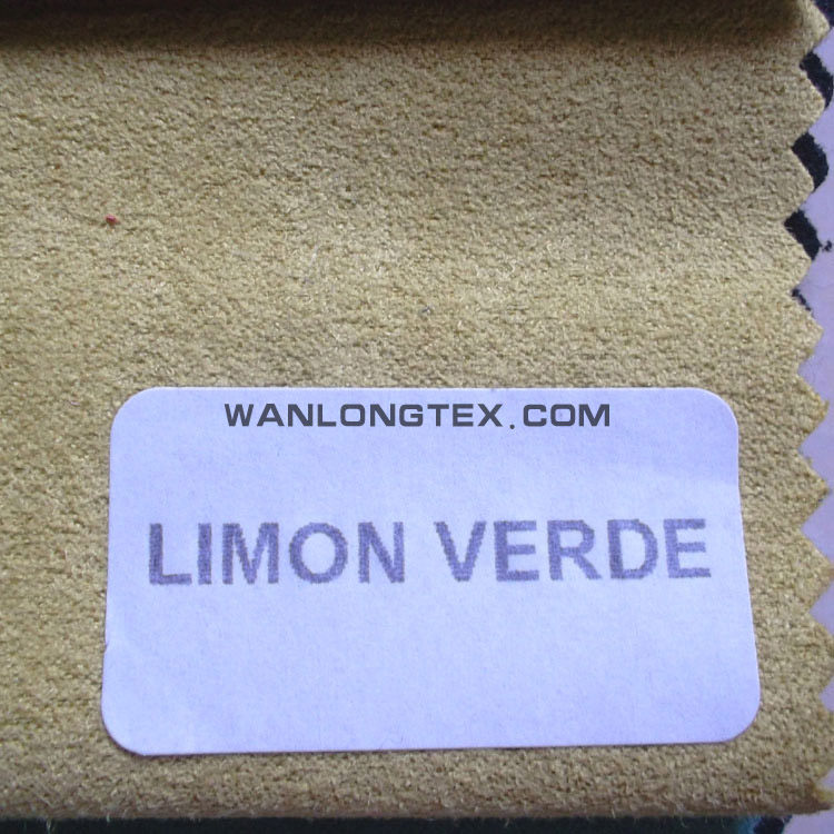 polyester fake suede leather for furniture cover
