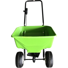 Hand operated fertilizer tool cart for seed and fertilizer