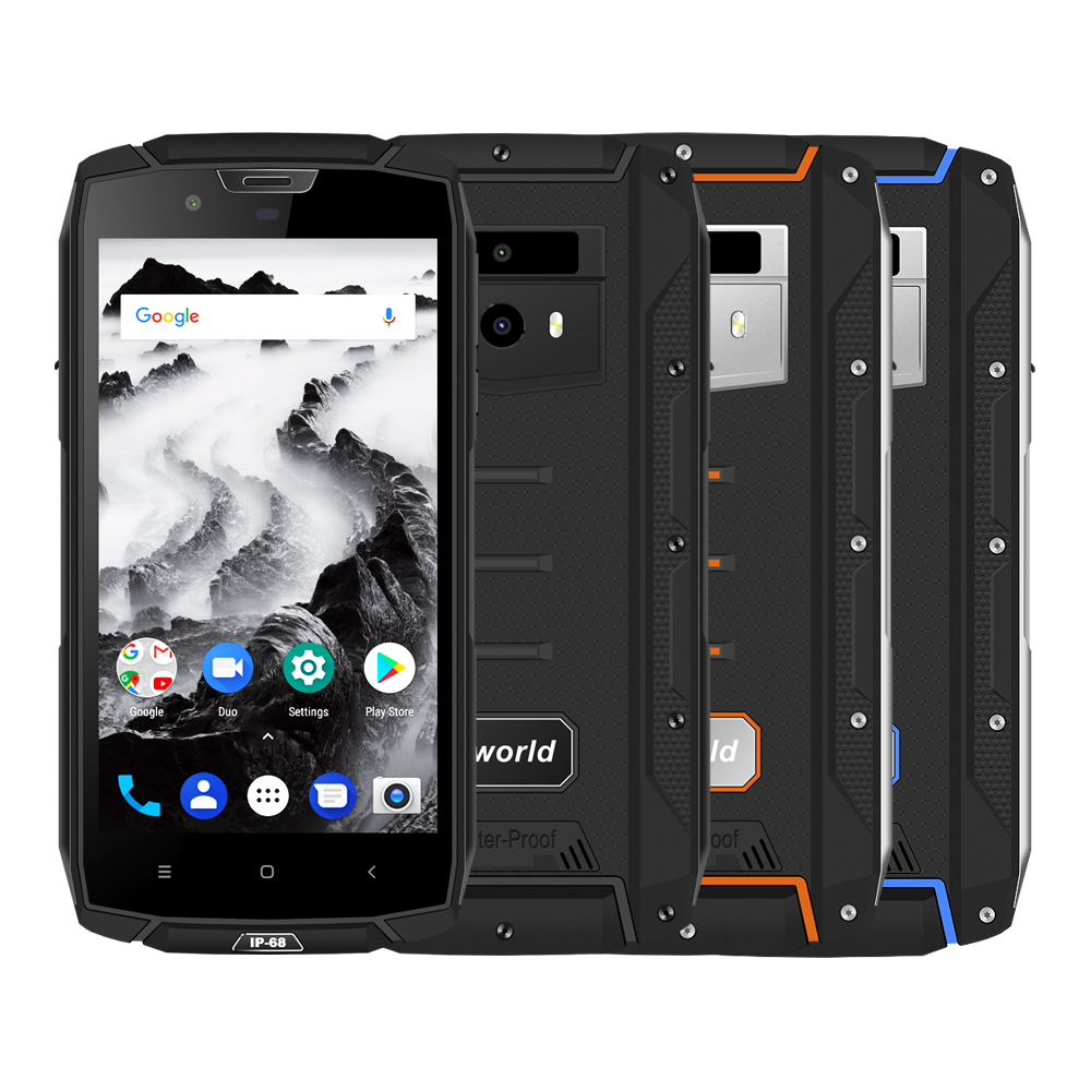 VKWORLD VK7000 IP68 Waterproof Mobile Phone MTK6750T 5.2inch HD Screen 5600mAh Android 8.0 Dual SIM Rugged Smartphone