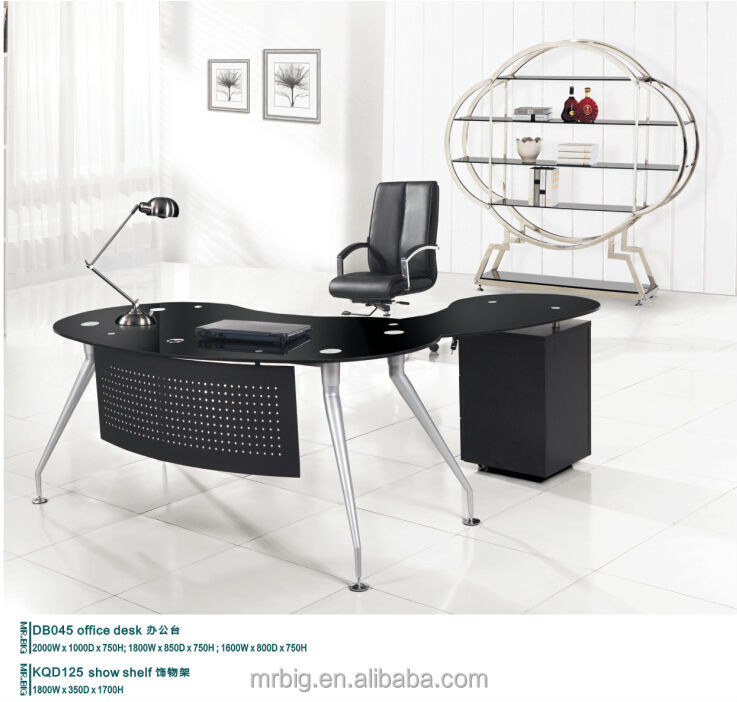 modern glass desk,glass office table,small glass office computer desk MR-DB047