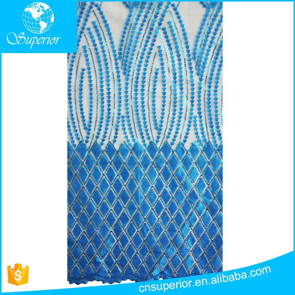 new designs african lace in korea dubai dress blue sequin fabric beautiful swiss voile lace mesh net eyelet embroidery fabric