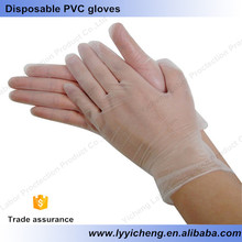 Hairdressing and making up disposable PVC gloves