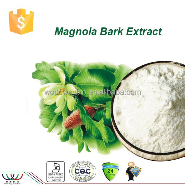 FDA HACCP KOSHER factory natural honokiol magnolol 98% total magnolols bulk powder magnolia bark extract