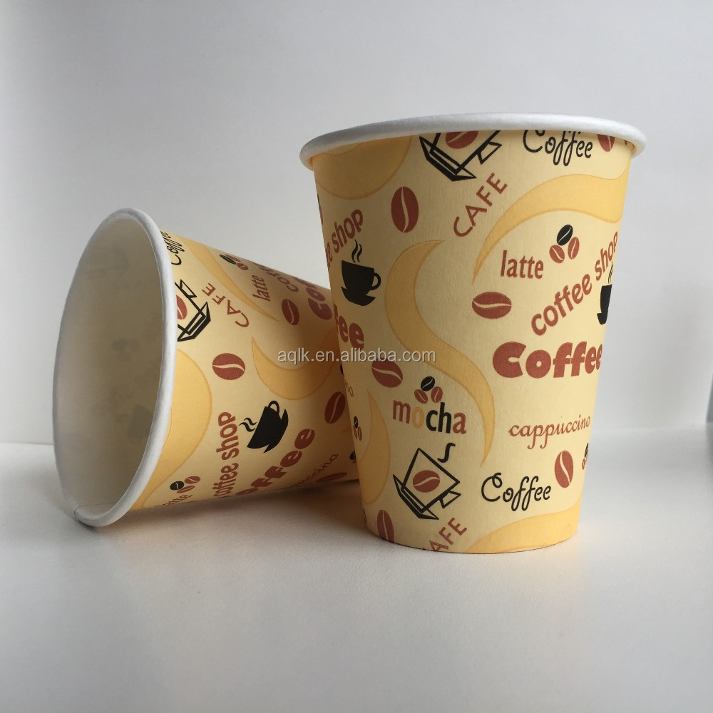 Single Wall Disposable Coffee Paper Cup Designs Manufacturer