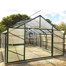 G-MORE Titan/Grange Series, 4M Width/6M Length, High Quality Easy DIY Aluminium Extension Farm Green house(GM32406-G)