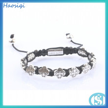 fashion style high quality energy Hemp/Nylon/Cottonrope wrap braided Bracelet