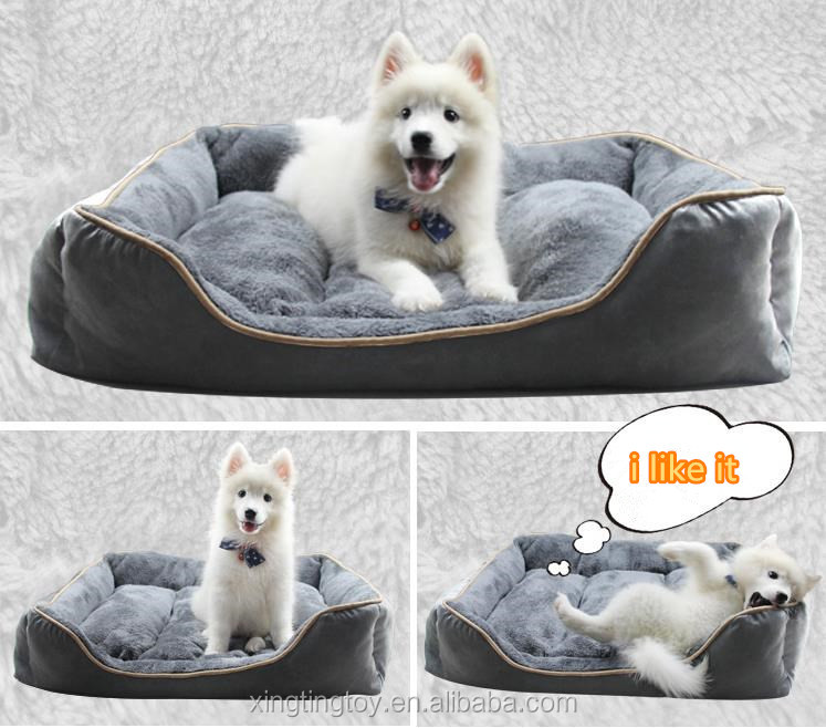 Wholesale cheap luxury pet dog bed lovely cute dog bed pet home washable soft plush blue car shaped heated pet bed