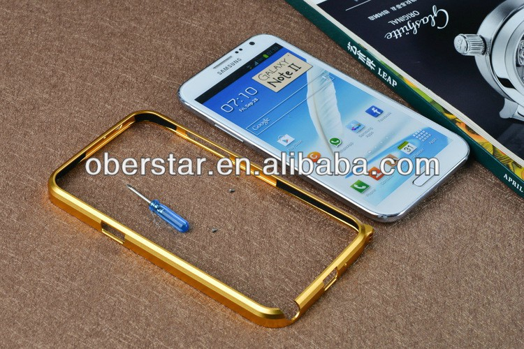 aluminum alloy blade metal frame bumper case for Samsung galaxy note 2 n7100