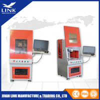 Metal sign fiber laser marking machine with strong compatibility/30W rotary laser engraving machine for cylinder marking