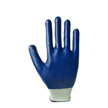 made in china Cut Resistant 13 gauge factory safety work hand gardening coated nitrile gloves