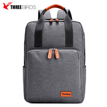 Fashion canvas tote bag leather handle backpack laptop vintage canvas backpack