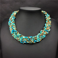 Popular African beaded necklaces, chocker necklace statement necklace