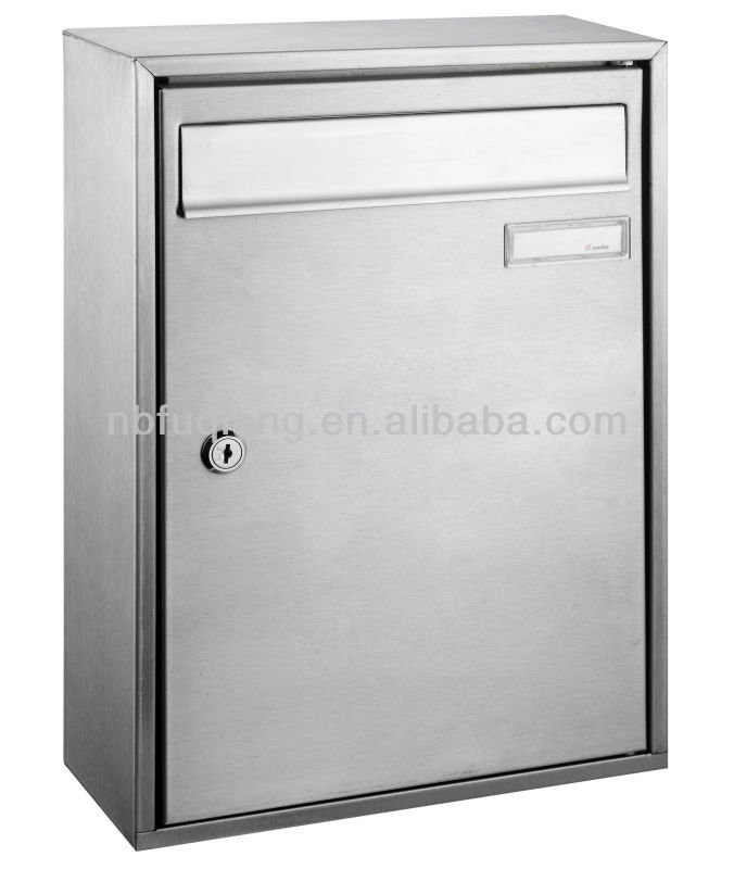 FQ-180 wall mounted stainless steel mailbox, letterbox, postbox