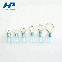 Hampool 2mm Wholesale Heat Shrink Insulated Terminal Copper Lug Ring Type Terminals Connectors