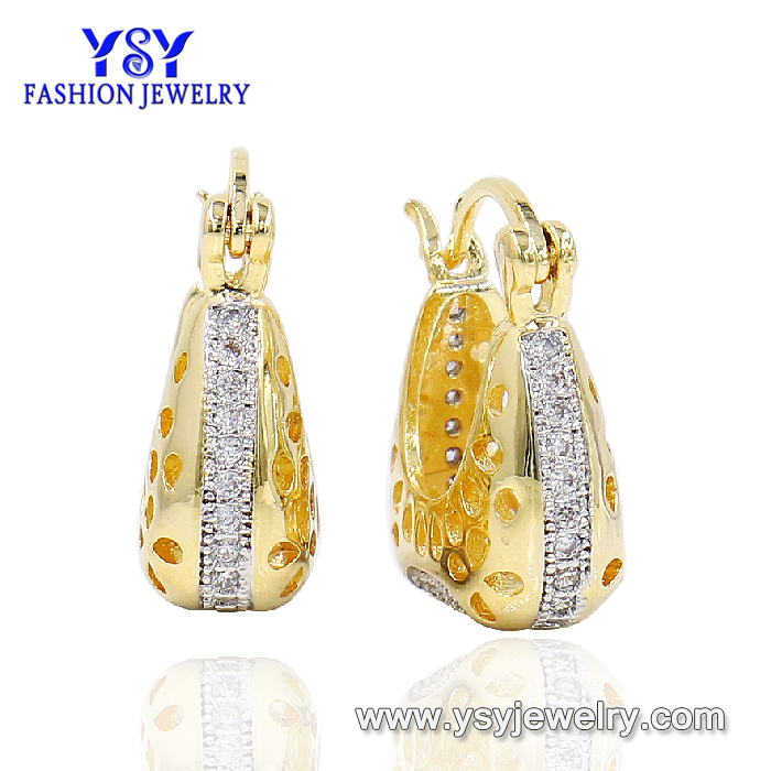 YSYjewelry 14k gold plated zircon earrings